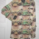 Shirt Contour National Vintage 70s Scenic Disco Rock Long Pointed Collar Print