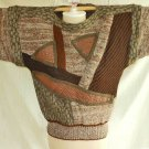 Batwing La Squadra Sweater Vintage 70s NOS Leather Patchwork Mixed Prints