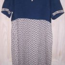 Oversize Vintage 60s Colorblock Louis Feraud Dress Logo Print Empire Pockets 40