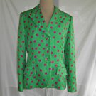 Bill Blass Vintage 70s Trophy Jacket Blazer Quilted Preppy Dotted Hot Pink NOS