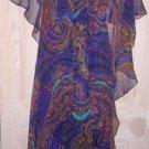 Psychedelic Maxi Halter Dress Jack Bryan Galaxy Chiffon Gown Vintage 60s NOS