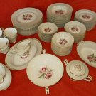 Vintage 50s Set 85 Piece Noritake Orchid China Margarita Flowers 5049 Serving