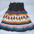 Vintage Seminole Swamp Indian Native Patchwork Girl Skirt Folk Black