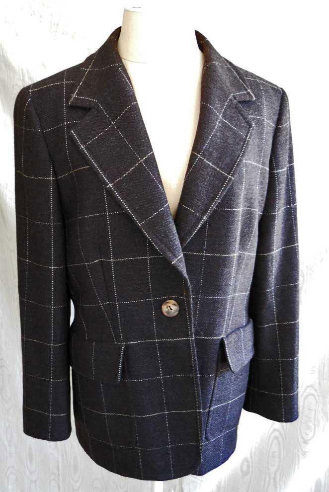 Trophy Jacket Blazer Gianfranco Ferre Studio Nos Vintage 80s Gray 12 Sexy Fit