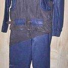 Jacket Leather  Vintage 70s Padded Contrast Biker Moto Cafe Racer Pants BARTHE