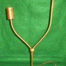 Lamp Base Atomic Vintage Mid Century Modernist Brass White Double Arm Student