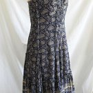 Dress Tocca Deadstock Maxi Mixed Print Rope Bead Strap Boho Festival Flare NOS 6