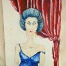 Outsider ART Female Long Neck Portrait Sexy Erotic Original Painting Modernist