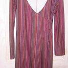 Nos BCBG Stripe Wrap SEXY BODYCON Stripe Jewel Tone Dress Slinky Stretch Sexy