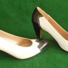Salvatore Ferragamo Shoes Pumps Jazz Flapper Spectator Color Block Retro 7 AAAA
