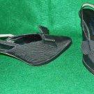 Vintage Claude Montana Platform Contour Heel Evening Slingback Pumps Shoes 8.5
