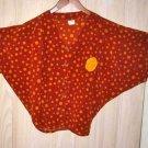 Vintage 70s Boho Batwing Dotted Circle Blouse Poncho Bubble Marisa Tellecher