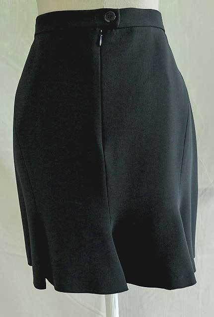 Moschino Couture Skirt Skater NOS Tulip Flippy Knee Length Black Fishtail 14 44