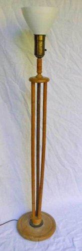 Ashcraft Heywood Wakefield Floor Lamp Vintage Antique Original Decor Rattan Tall