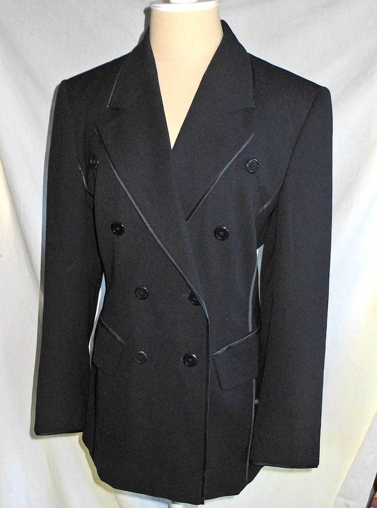 Escada Trophy Jacket Vintage 90s Blazer NOS Deadstock Short EU36 Double Breasted
