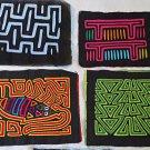 4 Mola San Blas Animal Bird Bug Folk Art Patchwork Kuna Vintage Decor Textile 4