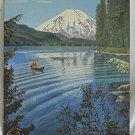 Vintage Original Oil Painting Turk 1956 Folk Art Mt St Helens Volcano Washington