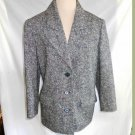 Rykiel Trophy Jacket Blazer Vintage 90s NOS Tweed Wool Peak Lapel Grunge Sexy 38
