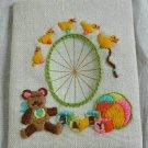 Vintage Ferris Wheel Needlepoint Teddy Bear Nursery Ducks Toys 3D