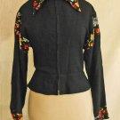 Jacket MAXIME de la FALAISE Peplum Vintage 70s Deadstock Blousecraft Biker Moto
