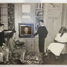 Vintage 50s Television Mid Mod Photo Collage Montage TV Garry Moore Black Help