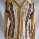 Sweater Vintage 50s NOS Deadstock Camel Stripes Swing Rockabilly Wool Italian