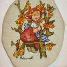 Needlepoint Vintage 70s Hummel Embroidery Birds Flowers Ornithology Peasant