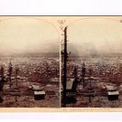 Stereoview WH Jackson #587 Panorama Leadville From Carbonate Hill Colorado