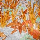 Deadstock Manuel Canovas Fabric Fermina Botanical Print 1 Yd Floral NOS Orange