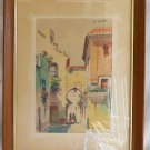 Vintage Painting Smith Oitihm Tangier Casbah Women Romantic Architecture Riad