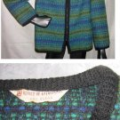 Vintage 60s NOS Koret California Wool Tweed Boxy Jacket Trophy Blazer Modernist