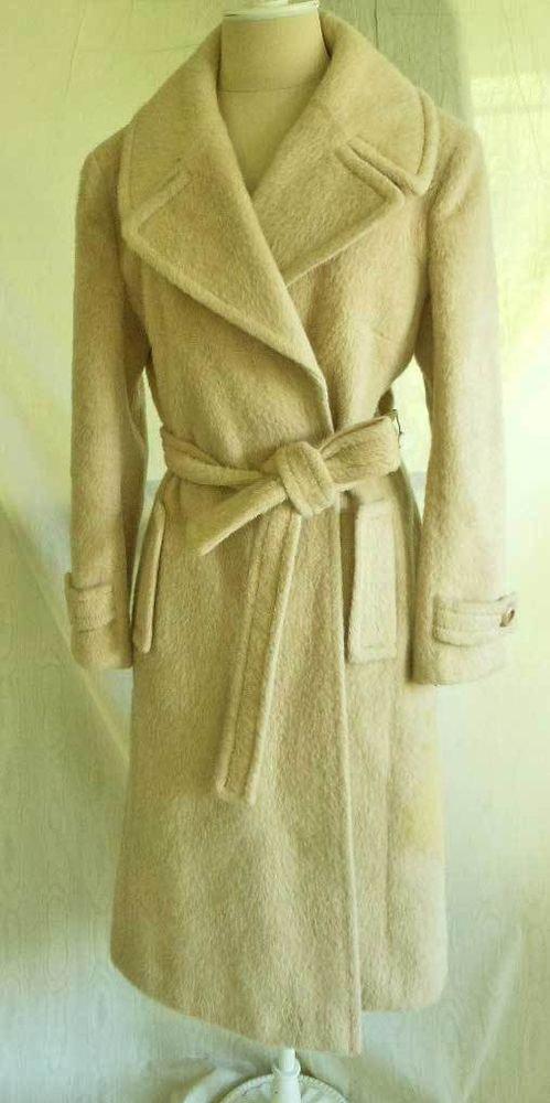 Vintage 60s NOS 100% Mohair Cavalry Wrap Belt Military Coat Kristine's England