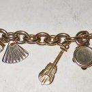 Charm Bracelet Vintage Heavy Link 9 KENT Furniture Arts and Crafts Guitar Moving