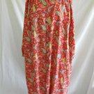 Vintage Marina Cavari Deadstock Nos Dress Hostess Gown Robe Couture Paisley Plus