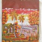 Vintage Haitian Painting Robinson Sunset Fishing Village Marine Landscape Large