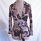 DVF Diane Von Furstenberg Silk Wrap Top Jill Print NOS Deadstock Blur Blouse 2