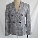 Tahari Jacket Trophy Blazer NEW WITH TAGS NWT Double Breasted Peak Plaid Vtg 6