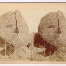 Stereoview Continental Stereo The Mysterious Painted Rocks Arizona Indian 1880s