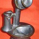 California Pottery Candlestick Telephone Planter Vintage Ceramic Garden Decor