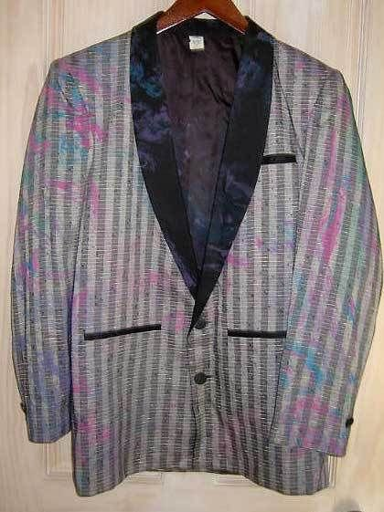 Tuxedo Vintage 60s NOS Mixed Print Jacket  Rat Pack Rad Clad Deadstock S