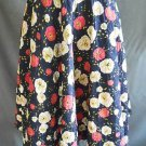 Full Skirt Maxi Quilted Hostess Vintage 50s Circle Alex Coleman Flower Print
