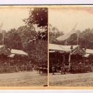 Stereoview President Johnson and Aids in the Stands White House 1865 Washington
