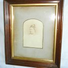 Antique Victorian Picture Frame Deep Wide 10x12 Gilded Mat 8x10 Cabinet Card