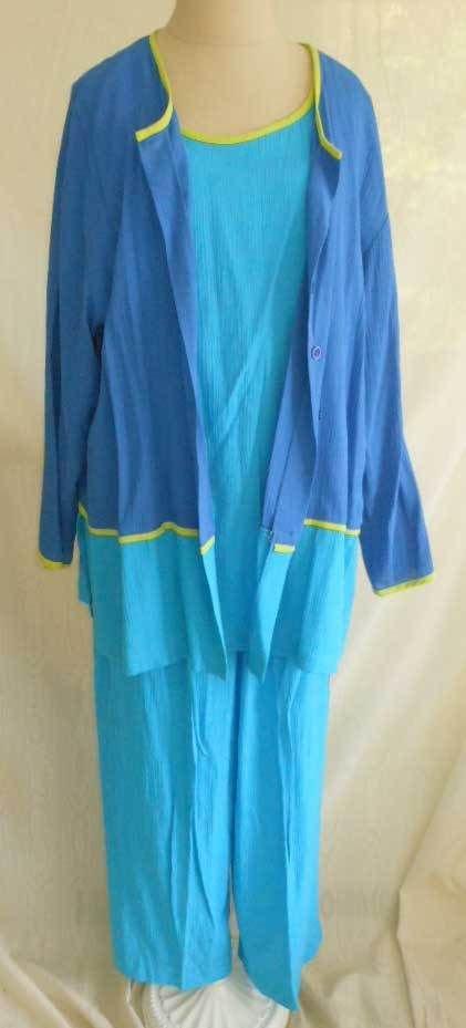 Nos with TAGS Diane Von Furstenberg 3 Piece Pants Suit Tunic Jacket Cami 1X L