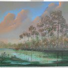 Vintage Painting Florida Everglades Big Cypress Swamp M Billie Roseate
