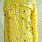 Flap Pocket Escada Shirt NOS Silk Print Military Blouse Button Down Daisy Flower