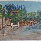 Vintage Canal Coral Gables Art Club Miami Painting Florida Chini Carmen Sanchez