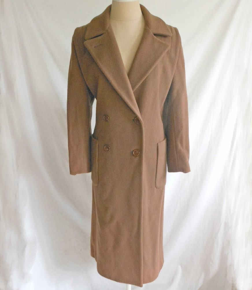 Maxi Coat Swagger Military Oversize Vintage 70s Wool Camel Fluid Harwood Nos