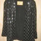 Sequin Tunic Jacket NOS Vintage 50s B. Altman Heavy Pattern Houndstooth Tweed
