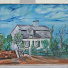 Vintage Florida Cracker Cottage Panhandle Oil Painting Harris Folk Art Naive